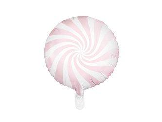 Balon foliowy Cukierek - 35 cm - jasny różowy