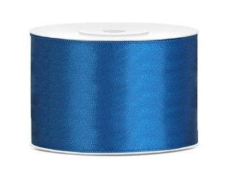 Tasiemka satynowa - 50mm x 25m - niebieska