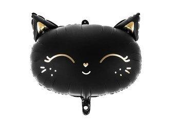 Balon foliowy Kotek - 48 x 36 cm - czarny