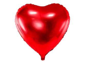 Balon foliowy Serce - 61 cm - czerwony