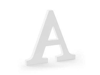 Drewniana litera A - 21,5 x 20 cm - biały
