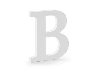 Drewniana litera B - 16,5 x 20 cm - biały