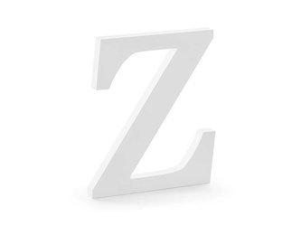 Drewniana litera Z - 17 x 20 cm - biały