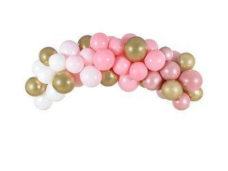 Girlanda balonowa - 200 cm - różowa - 60 szt.