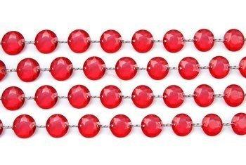Girlanda kryształowa czerwona - 1 m