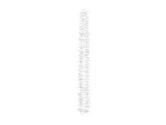 Girlanda na tło - Kwiaty - 180 cm - biała