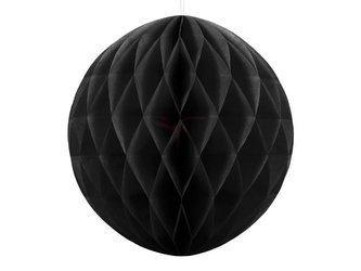 Kula bibułowa czarna - 30 cm
