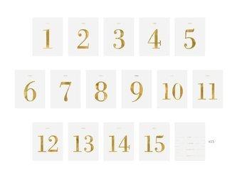 Numery na stół - zestaw naklejek - 9,5 x 12 cm