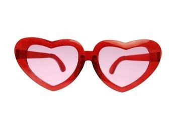 Okulary MEGA serca - czerwone