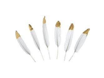 Piórka dekoracyjne - 10-16 cm - białe - 6 szt.