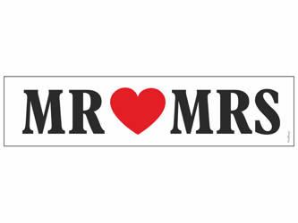 Tablica rejestracyjna - MR love MRS - 50 x 11,5 cm