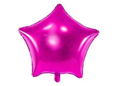 Balon foliowy Gwiazdka - 48 cm - ciemny różowy