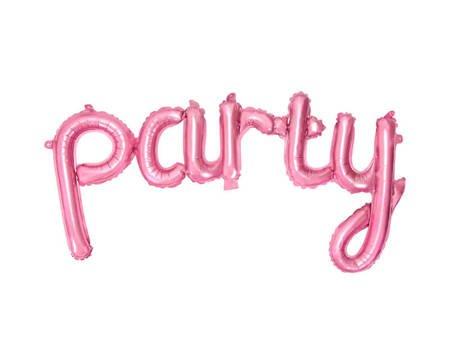 Balon foliowy Party - 80 x 40 cm - róż