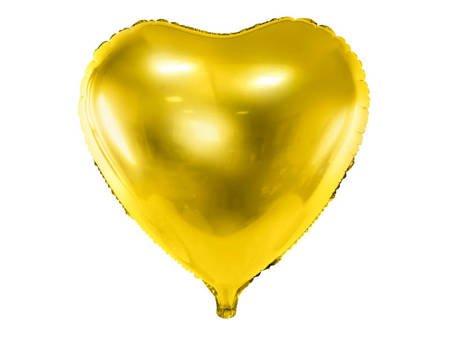 Balon foliowy Serce - 61 cm - złoty