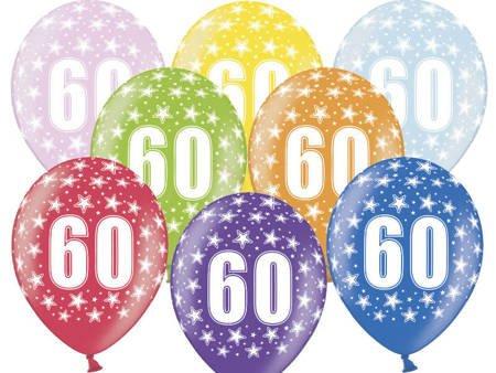 Balony 30 cm - 60th Birthday - 60 urodziny - Metallic Mix - 50 szt.