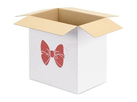 Karton do poczty balonowej - Kokarda - 60x40x60 cm