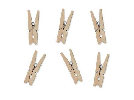 Klamerki drewniane - naturalne drewno - 20 szt.