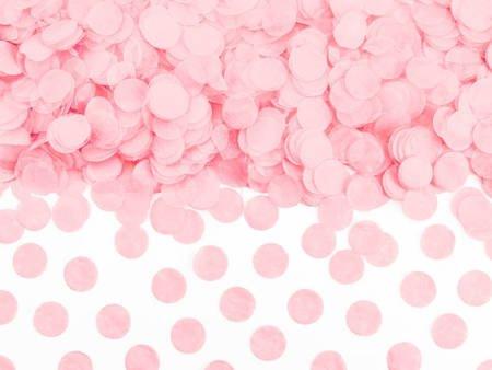 Konfetti Kółka - jasny różowy - 15g