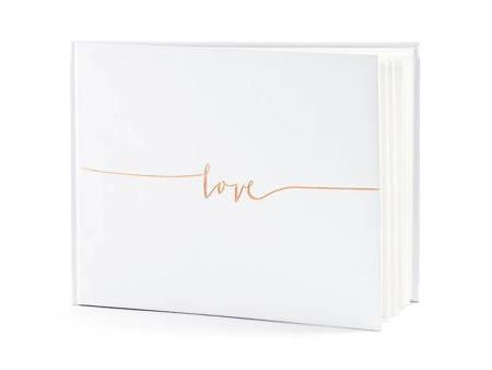 Księga Gości Love - 24 x 18,5 cm - 22 kartki