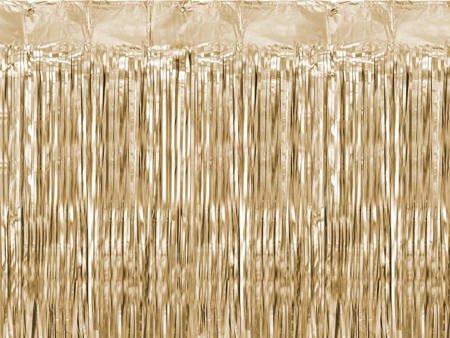Kurtyna Party - złota - 90 x 250 cm