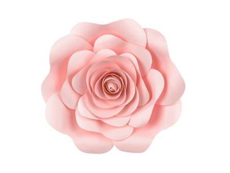Papierowe kwiaty - różowe - mix