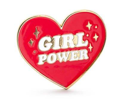 Przypinka Serce - Girl Power - 3x3 cm