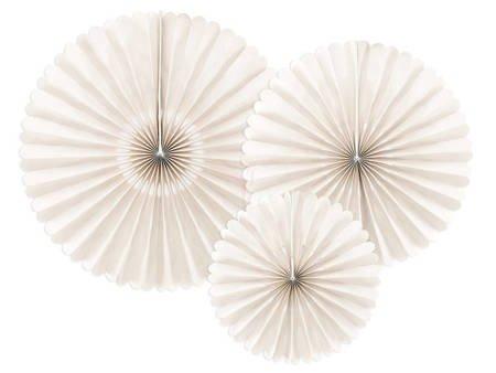 Rozety dekoracyjne beżowe - 26-43 cm - 3 szt.