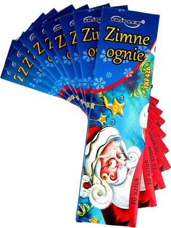 ZESTAW - 10 x ZIMNE OGNIE - 17 cm. - TXF426 - Triplex - 10 szt.